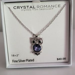 Swarovski crystals Owl necklace